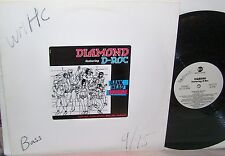 "Diamond Feat. D-Roc Bank Head Bounce 12"" Single ""Radio,Bass,Club Mix Promo NM"
