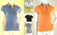 Polo Donna T-Shirt Maglia Elasticizzata SERRATO Maglietta C082 Tg M L XL XXL