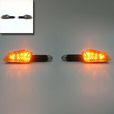2 X Mini Carbon 11 Led Motorcycle Bike Turn Signal Indicator Amber Blinker