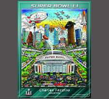 SUPER BOWL LI (Houston 2017) Official NFL Pop Art EVENT POSTER by Fazzino