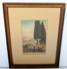 Beautiful Vintage Framed Print of Lake Como, Italy