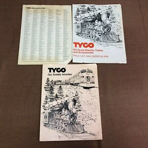 Tyco Easy Assembly Instructions, Price List Order Blank, & Service Stations