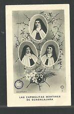 holy card relics Martires Guerra Civil Española image pieuse estampa santino
