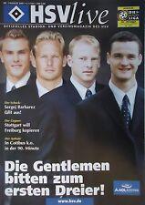 Programm 2001/02 HSV Hamburger SV - VfB Stuttgart