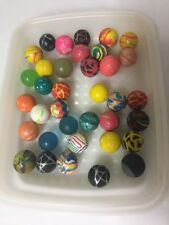 Vintage Rubber Bouncy Ball Lot Vending Machine Toy Abstracts Solid Tie Dye Solid