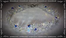 Handcrafted Formal Or Bridal Bracelet 9 Inches MADE WITH Swarovski Crystals