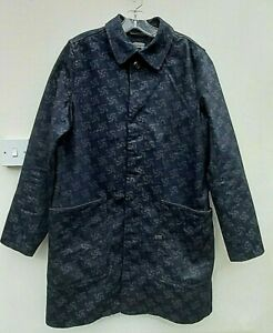 G-STAR RAW FOR THE OCEANS PHARRELL BLUE DROP 2 A CROTCH TRENCH L VGC FREE UK P&P