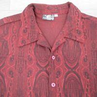 Vintage Positano Men's Party Shirt Size Large Club Rave 1990's
