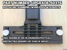 New UPGRADE-50376 Replacing Whirlpool Kenmore W10350376(Small Wheels) Adjuster