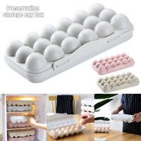 12/18Grid Egg Tray Holder Egg Storage Box Refrigerator Crisper Storage Container
