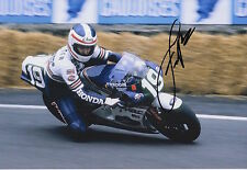 Freddie Spencer Hand Signed 12x8 Photo Honda MotoGP 6.