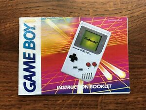 Game Boy System Console Original Nintendo Gameboy Instruction Manual Only
