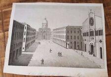 1 Engraving - VEDUTA DELLA STRADA DEL SEMINARIO IN MODENA - 1800s