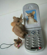 Let's Keep in Touch Flip phone Mackenzie Charming Tails figurine with charm