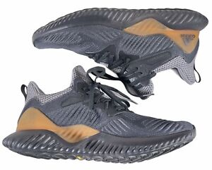 Adidas Alphabounce Beyond Mens Running Shoes Sneakers Grey Size 9.5