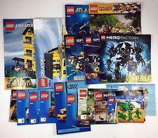 Lot 17 Lego Instruction Manual  4996 5982 5972 7145 8080 8899 8492 7747 4441 +++