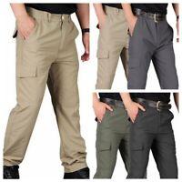 Men's Trousers Tactical Cargo Pants Casual Combat Hiking Pocket Outdoor Pants