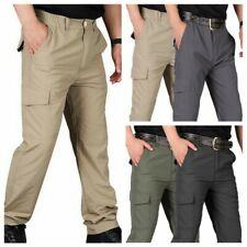 Men's Trousers Tactical Cargo Pants Casual Combat Hiking Pocket Outdoor Pants
