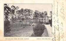 De Land Florida College Arms Street View Antique Postcard K48125