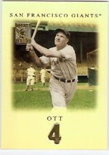 MEL OTT SP RARE 2001 TOPPS TRIBUTE SET 46 SAN FRANCISCO GIANTS HOF