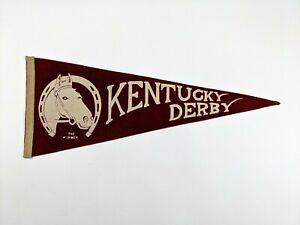 VERY RARE Circa 1935 KENTUCKY DERBY Horse Racing Felt Souvenir Pennant