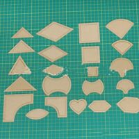 Acrylic Quilting Templates Sewing Stencils Patchwork Ruler Sewing DIY craft tool