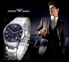 EMPORIO ARMANI AR2448 LUXURY BLUE CHRONOGRAPH MENS WATCH GIFT 2YR WARRANTY