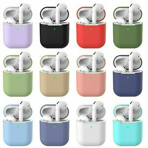 For Apple AirPods Case Cover Silicone Skin Ultra Slim Holder AirPod 1/2 Case