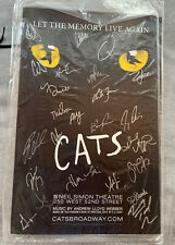 "Cats Broadway 2017 Autographed Sealed Poster ""Let The Memory Live Again"""