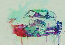 Porsche 911 Watercolor 2 Poster By  NaxArt - 19x13