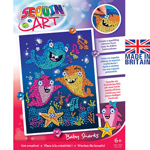 Sequin Art 1924 Baby Sharks - DIY Craft Kit From The Red Range