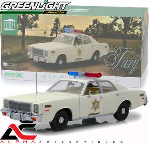 GREENLIGHT 19055 1:18 1977 PLYMOUTH FURY DUKES OF HAZZARD COUNTY SHERIFF