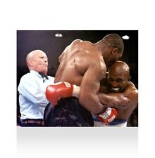 Evander Holyfield Signed Photo - Tyson Bites Holyfield's Ear Autograph