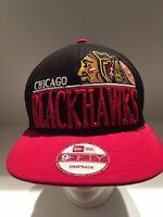 Chicago Blackhawks New Era 9fifty NHL Snapback Hat. Pre-owned