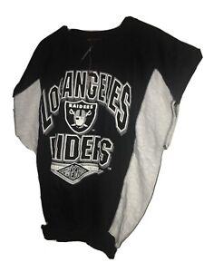 Vtg 90s LA Raiders Sweatshirt Muscle Gym Gear Rap NWA eazy E Big Arch Logo