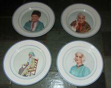 """Set of 4 SOCIETE CERAMIQUE MAESTRICHT HOLLAND 9"""" Plates; Middle East Portraits"""