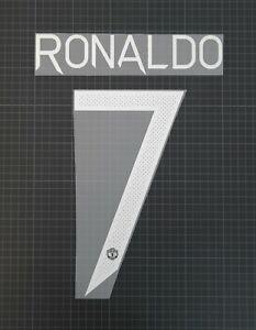 RONALDO #7 2021-2022 Player Size European & Cup White Nameset Plastic