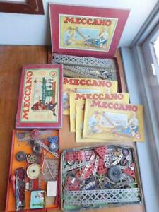 Great Vintage French Issue MECCANO Construction Sets and Manuals Bulk Lot!
