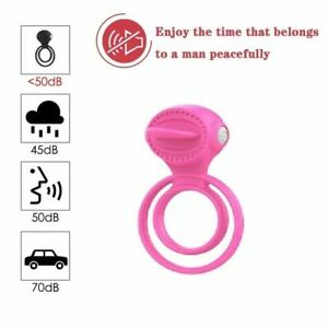 Vibrating Male Penis Cock Ring Tougue Licking Massage For Men Women Couples Gift
