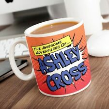Personalised Adventures Of (YOUR NAME) - Fun Pop Art Superhero Coffee Mug