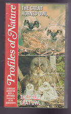 The Great Horned Owl & The Great Gray Owl (VHS) Profiles OF Nature Video tape