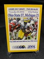 MICHIGAN TK Legacy Game Day Diary 1943 THE RIVALRY Ohio State Buckeyes insert SP
