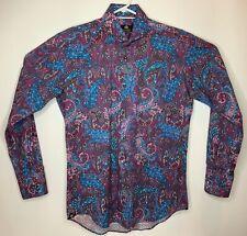 Circle of Gentlemen Knight shirt in dark blue//grey stripe rrp £129.00