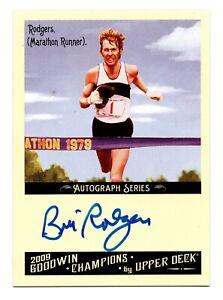 2009 Goodwin Champions Authentic Autograph Bill Rodgers NYC Boston Marathon
