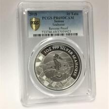 2018 1 oz .999 Silver Coin Samoa Seahorse PCGS PR69DCAM Reverse Proof