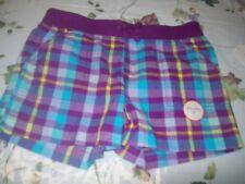 NWT Faded Glory Purple Plaid Shorts Size Girls 7/8