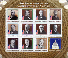 Antigua & Barbuda 2018 MNH US Presidents Roosevelt Hoover 12v M/S III Stamps