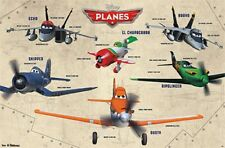 2013 DISNEY PIXAR PLANES GROUP CAST CHART POSTER 22x34 NEW FAST FREE SHIPPING