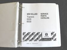FORD NEW HOLLAND 5530 6530 TRACTOR PARTS CATALOG MANUAL W/BINDER SUPER CLEAN