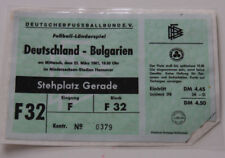 Ticket for collectors * West Germany - Bulgaria 1967 in Hannover